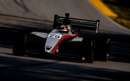 Indy Lights Series driver  J.R. Hildebrand is bathed in sunlight
